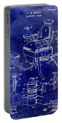 1901 Barber Chair Patent Drawing Blue Portable Battery Charger