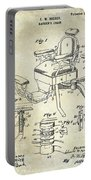 1901 Barber Chair Patent Drawing  Portable Battery Charger