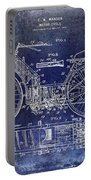 1901 Motorcycle Patent Drawing Blue Portable Battery Charger