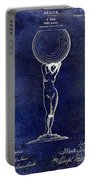 1901 Wine Glass Design Patent Blue Portable Battery Charger