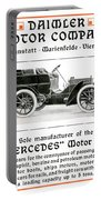 1904 - Daimler Motor Company Mercedes Advertisement - Color Portable Battery Charger