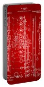 1908 Flute Patent - Red Portable Battery Charger