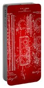 1909 Flute Patent In Red Portable Battery Charger