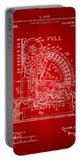 1910 Cash Register Patent Red Portable Battery Charger