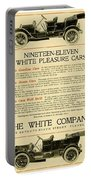 1911 - White Automobile Company Advertisement Portable Battery Charger
