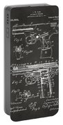 1911 Automatic Firearm Patent Artwork - Gray Portable Battery Charger by Nikki Marie Smith