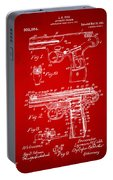 1911 Automatic Firearm Patent Artwork - Red Portable Battery Charger