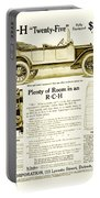 1912 - R C H Automobile Advertisement Portable Battery Charger