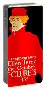 1913 - Mcclures Magazine Poster Advertisement - Ellen Terry - Color Portable Battery Charger