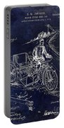 1913 Motorcycle Side Car Patent Blue Portable Battery Charger