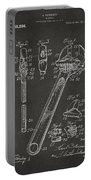1915 Wrench Patent Artwork - Gray Portable Battery Charger