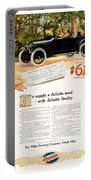 1916 - Willys Overland Roadster Automobile Advertisement - Color Portable Battery Charger