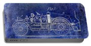 1916 Automobile Fire Apparatus Patent Drawing Lt Blue Portable Battery Charger