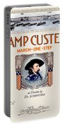 1917 - Camp Custer March One Step Sheet Music - Edward Schroeder - Color Portable Battery Charger