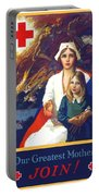 1917 - Red Cross Nursing Recruiting Poster - World War One - Color Portable Battery Charger