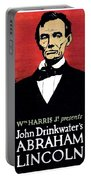 1919 - John Drinkwater's Play Abraham Lincoln Theatrical Poster - Color Portable Battery Charger