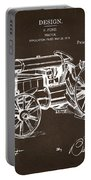 1919 Henry Ford Tractor Patent Espresso Portable Battery Charger by Nikki Marie Smith