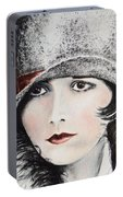 Louise Brooks Portable Battery Charger