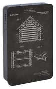 1920 Lincoln Log Cabin Patent Artwork - Gray Portable Battery Charger