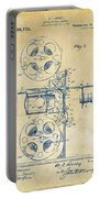1920 Motion Picture Machine Patent Vintage Portable Battery Charger