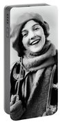 1920s 1930s Smiling Woman Dressed Portable Battery Charger