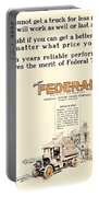 1921 - Federal Truck Advertisement - Color Portable Battery Charger
