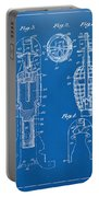 1921 Explosive Missle Patent Minimal Blueprint Portable Battery Charger by Nikki Marie Smith