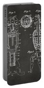 1921 Explosive Missle Patent Minimal Gray Portable Battery Charger