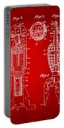1921 Explosive Missle Patent Minimal Red Portable Battery Charger
