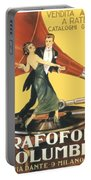 1922 - Columbia Gramophone Company Italian Advertising Poster - Color Portable Battery Charger