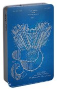1923 Harley Davidson Engine Patent Artwork - Blueprint Portable Battery Charger