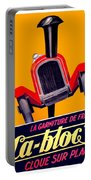 1924 - Ca-bloc Brakes French Advertisement Poster - Color Portable Battery Charger