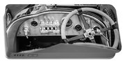1925 Aston Martin 16 Valve Twin Cam Grand Prix Steering Wheel -0790bw Portable Battery Charger