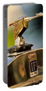 1925 Isotta Fraschini Tipo 8a S Corsica Boattail Speedster Hood Ornament Portable Battery Charger by Jill Reger