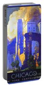 1926 - New York Central Railroad - Chicago Travel Poster - Color Portable Battery Charger