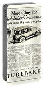 1927 - Studebaker Commander Automobile Advertisement Portable Battery Charger