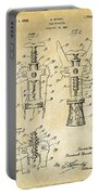 1928 Cork Extractor Patent Art - Vintage Black Portable Battery Charger