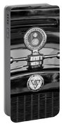 1928 Dodge Brothers Hood Ornament - Moto Meter Portable Battery Charger by Jill Reger