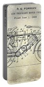 1928 Motorcycle Patent Drawing Portable Battery Charger
