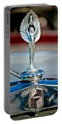 1928 Nash Coupe Hood Ornament 2 Portable Battery Charger by Jill Reger