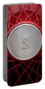 1928 Rolls-royce Phantom I Sedenca De Ville Wheel Emblem Portable Battery Charger