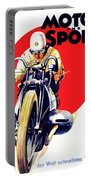 1929 - Bmw Motorcycle Poster - Color Portable Battery Charger