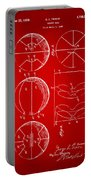 1929 Basketball Patent Artwork - Red Portable Battery Charger