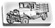 1929 Chevy Truck 1 Ton Stake Body Drawing Portable Battery Charger