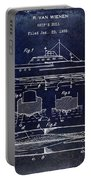 1930 Ship's Hull Patent Drawing Blue Portable Battery Charger