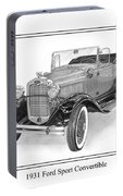 1931 Ford Convertible Portable Battery Charger