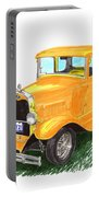 1931 Yellow Ford Coupe Portable Battery Charger by Jack Pumphrey
