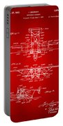 1932 Amphibian Aircraft Patent Red Portable Battery Charger