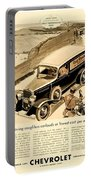 1933 - Chevrolet Commercial Automobile Advertisement - Old Gold Cigarettes - Color Portable Battery Charger