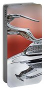 1933 Chrysler Cl Imperial Custom Dual Windshield Phaeton Hood Ornament Portable Battery Charger by Jill Reger